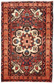 ホセイナバード 絨毯 65X101 オリエンタル 手織り 濃い茶色/ベージュ (ウール, ペルシャ/イラン)