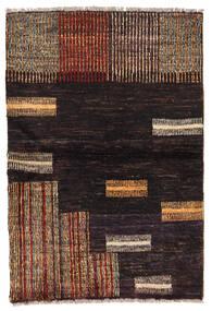 Moroccan Berber - Afghanistan 絨毯 92X136 モダン 手織り 黒/濃い茶色 (ウール, アフガニスタン)