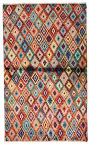 Moroccan Berber - Afghanistan 絨毯 85X142 モダン 手織り 濃い茶色/錆色 (ウール, アフガニスタン)