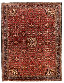 ホセイナバード 絨毯 149X218 オリエンタル 手織り 濃い茶色/深紅色の (ウール, ペルシャ/イラン)