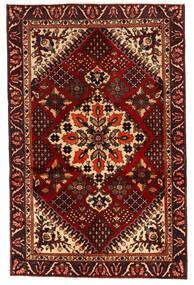 バクティアリ 絨毯 125X195 オリエンタル 手織り 濃い茶色/深紅色の (ウール, ペルシャ/イラン)