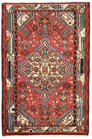 ハマダン 絨毯 82X125 オリエンタル 手織り 黒/濃い茶色 (ウール, ペルシャ/イラン)