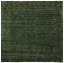 ハンドルーム Gabba - フォレストグリーン 絨毯 200X200 モダン 正方形 深緑色の (ウール, インド)
