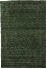 ハンドルーム Gabba - フォレストグリーン 絨毯 140X200 モダン 深緑色の (ウール, インド)