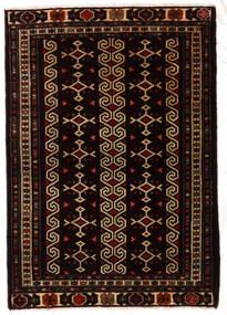 トルクメン 絨毯 81X116 オリエンタル 手織り 黒/濃い茶色 (ウール, ペルシャ/イラン)