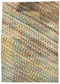 Moroccan Berber - Afghanistan 絨毯 201X283 モダン 手織り 暗めのベージュ色の/ライトグリーン (ウール, アフガニスタン)