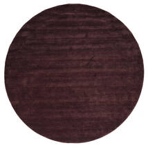 ハンドルーム - ディープワイン 絨毯 Ø 250 モダン ラウンド 深紅色の/濃い茶色 大きな (ウール, インド)