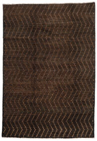 Moroccan Berber - Afghanistan 絨毯 201X293 モダン 手織り 濃い茶色/茶 (ウール, アフガニスタン)