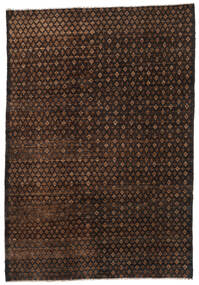 Moroccan Berber - Afghanistan 絨毯 197X283 モダン 手織り 濃い茶色/茶 (ウール, アフガニスタン)