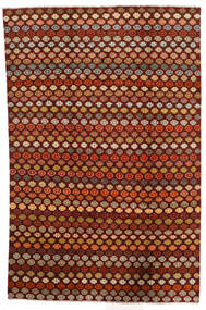 Moroccan Berber - Afghanistan 絨毯 194X298 モダン 手織り 深紅色の/濃い茶色 (ウール, アフガニスタン)