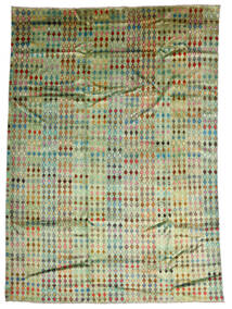 Moroccan Berber - Afghanistan 絨毯 207X288 モダン 手織り ライトグリーン/オリーブ色 (ウール, アフガニスタン)