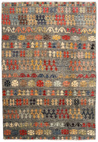 Moroccan Berber - Afghanistan 絨毯 205X300 モダン 手織り 濃いグレー/薄い灰色 (ウール, アフガニスタン)