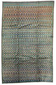 Moroccan Berber - Afghanistan 絨毯 197X306 モダン 手織り 濃いグレー/深緑色の (ウール, アフガニスタン)