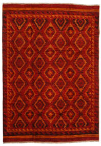 Moroccan Berber - Afghanistan 絨毯 200X285 モダン 手織り 深紅色の/錆色 (ウール, アフガニスタン)