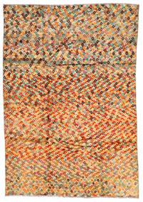 Moroccan Berber - Afghanistan 絨毯 203X292 モダン 手織り 暗めのベージュ色の/オレンジ (ウール, アフガニスタン)