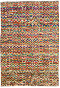 Moroccan Berber - Afghanistan 絨毯 196X283 モダン 手織り 濃い茶色/深紅色の (ウール, アフガニスタン)