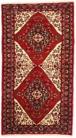 マシュハド 絨毯 98X176 オリエンタル 手織り 深紅色の/錆色 (ウール, ペルシャ/イラン)