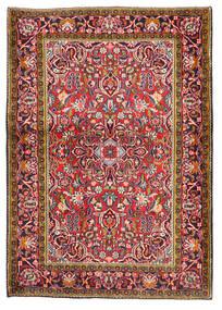 カシャン 絨毯 103X147 オリエンタル 手織り 深紅色の/濃い紫 (ウール, ペルシャ/イラン)