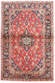 カシャン 絨毯 97X160 オリエンタル 手織り 黒/ホワイト/クリーム色 (ウール, ペルシャ/イラン)