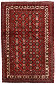 マシュハド 絨毯 130X200 オリエンタル 手織り 深紅色の/濃い茶色 (ウール, ペルシャ/イラン)