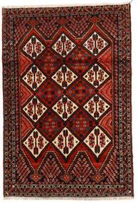 アフシャル 絨毯 114X167 オリエンタル 手織り 濃い茶色/深紅色の (ウール, ペルシャ/イラン)