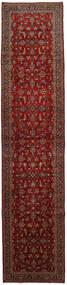 カシャン 絨毯 112X504 オリエンタル 手織り 廊下 カーペット 深紅色の (ウール, ペルシャ/イラン)