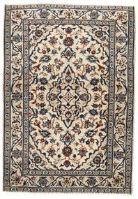 カシャン 絨毯 103X146 オリエンタル 手織り ベージュ/黒/薄い灰色 (ウール, ペルシャ/イラン)