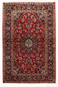カシャン 絨毯 97X147 オリエンタル 手織り 深紅色の/ベージュ (ウール, ペルシャ/イラン)