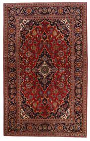 カシャン 絨毯 130X209 オリエンタル 手織り 深紅色の/濃い茶色 (ウール, ペルシャ/イラン)