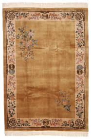 中国 90 Line 絨毯 213X305 オリエンタル 手織り 茶/薄茶色 (ウール, 中国)
