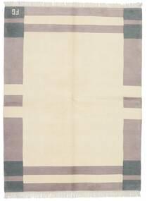 ギャッベ インド 絨毯 172X228 モダン 手織り ベージュ/薄い灰色 (ウール, インド)