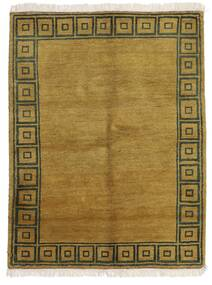 ギャッベ インド 絨毯 143X186 モダン 手織り オリーブ色/茶 (ウール, インド)