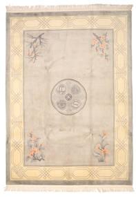 中国 90 Line 絨毯 244X335 オリエンタル 手織り ベージュ/薄い灰色 (ウール, 中国)