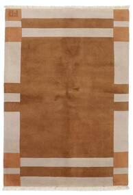 ギャッベ インド 絨毯 143X202 モダン 手織り 茶/薄い灰色 (ウール, インド)