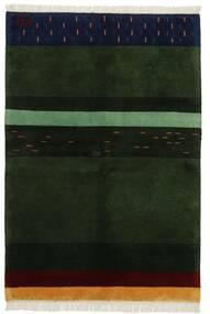 ギャッベ インド 絨毯 143X208 モダン 手織り 深緑色の (ウール, インド)