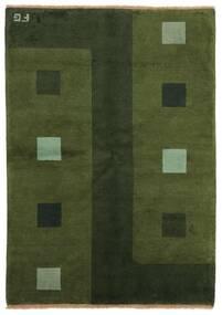 ギャッベ インド 絨毯 139X199 モダン 手織り 深緑色の (ウール, インド)