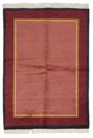 ギャッベ インド 絨毯 137X196 モダン 手織り 赤/深紅色の (ウール, インド)