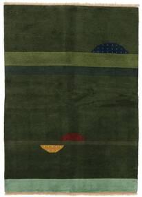 ギャッベ インド 絨毯 145X199 モダン 手織り 深緑色の (ウール, インド)