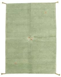 ギャッベ インド 絨毯 146X201 モダン 手織り ライトグリーン/濃いグレー (ウール, インド)