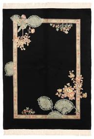 中国 90 Line 絨毯 168X229 オリエンタル 手織り 黒 (ウール, 中国)