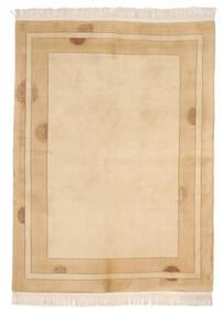 中国 90 Line 絨毯 168X229 オリエンタル 手織り 薄茶色/ベージュ/暗めのベージュ色の (ウール, 中国)