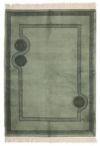 中国 90 Line 絨毯 168X229 オリエンタル 手織り 深緑色の/ホワイト/クリーム色 (ウール, 中国)