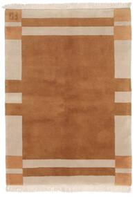 ギャッベ インド 絨毯 141X197 モダン 手織り 茶/ベージュ (ウール, インド)