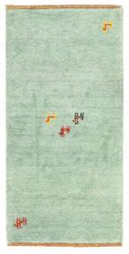 ギャッベ インド 絨毯 60X122 モダン 手織り パステルグリーン/ホワイト/クリーム色 (ウール, インド)