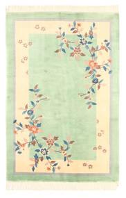 中国 アンティーク仕上げ 絨毯 120X180 オリエンタル 手織り パステルグリーン/黄色 (ウール, 中国)