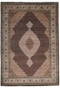 タブリーズ Royal 絨毯 245X351 オリエンタル 手織り 濃い茶色/薄い灰色 ( インド)