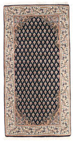 Mir インド 絨毯 61X123 オリエンタル 手織り 濃いグレー/茶 (ウール, インド)