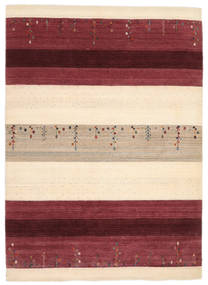 Loribaf ルーム 絨毯 176X243 モダン 手織り 深紅色の/ベージュ (ウール, インド)