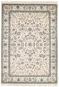 ナイン インド 絨毯 171X243 オリエンタル 手織り ベージュ/薄い灰色 ( インド)