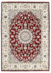 ナイン インド 絨毯 170X242 オリエンタル 手織り ベージュ/薄い灰色 ( インド)